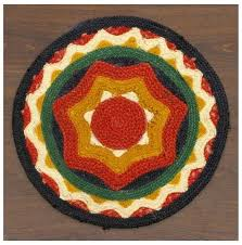round southwestern rugs red