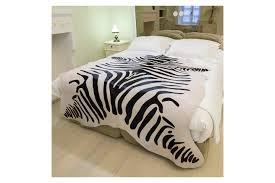 destiny zebra cowhide rug black white animal print fur home