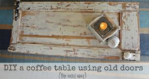 make wood coffee table out old door upcycle