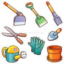 garden tools vector ilration of