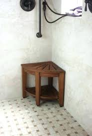 teak corner shower stool shower bench teak corner shower seat teak stool bench foot small with