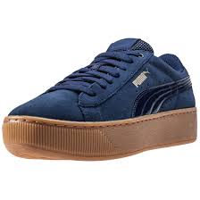 puma new shoes. image is loading puma-vikky-platform-womens-trainers-peacoat-new-shoes puma new shoes