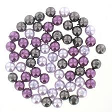 Bijoux Lavender Pearl Glass Beads <b>8Mm</b> 65 Pack | Hobbycraft