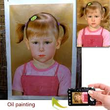 custom baby portrait oil painting one person handmade oil on canvas paint from photo