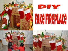 diy fake fireplace