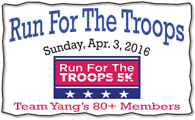 thank you to the 80 plus team yang s members who supported run for the troops 5k and pared in the race this morning we could not ask for a better