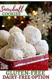 gluten free snowball cookies dairy