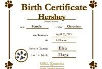 dog birth certificates running certificates templates free unique dog birth certificate