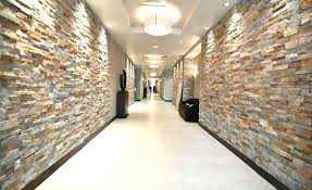 faux wall interior stone wall panel gold stacked stacked stone walls in hallway of hotel faux