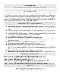 staff accountant resume example resume for accountant