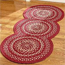 new primitive country triple circle braided rug barn red jute area rugs brai