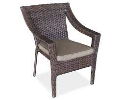 resin wicker stacking patio chair