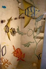 glass shower doors ocean floor seaweed