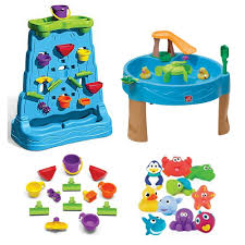 kids 13 piece accessory waterfall discovery wall duck pond water table with water toys 10 pack little s step2 water table water toys