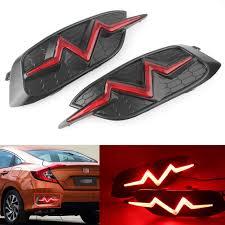 Civic Rear Bumper Light Heartbeat Rear Bumper Light Led Trunk Tail Lamp For Honda Civic 2016 2017 2018 10th Generation Red