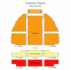 George Gershwin Theatre Seating Chart Theatre In New York