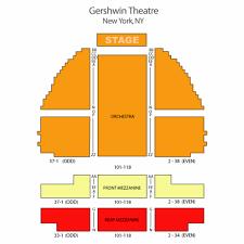 Gershwin Seating Chart George Gershwin Theatre Seating Chart Theatre In New York