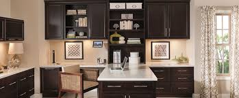 kitchen cabinets for home office. home office featuring cherry hanlon cabinets with a dark finish kitchen for