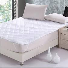 one piece white quilted mattress Pad with filling single double