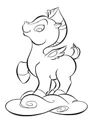 Coloring Pages Fine Hercules To Print Baby Pegasus Mebelmag