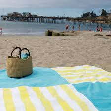 beach towel on beach. Simple Towel I Finished This Blanket Just In Time For The Beach Yesterday Itu0027s Made  From Two Ikea Towels That Picked Up Last Summer Think Cost About 7  On Beach Towel E