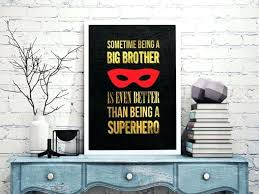 am superhero brother wall art brothers property  on property brothers wall art with brothers wall decor boys room by art uk becauseofwill