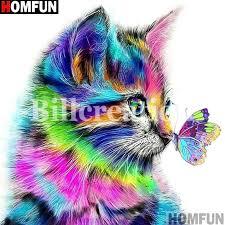 "<b>HOMFUN Full Square/Round</b> Drill 5D DIY Diamond Painting ""Cat ..."