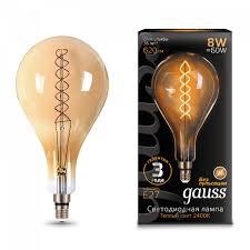 <b>Лампа</b> LED <b>A160</b> Golden E27 8Вт (620Лм) 2400K 230В ...