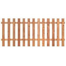 Wood fence panels home depot Vertical 312 Ft Ft Western Red Cedar Spaced Picket Home Depot Spaced Picket Wood Fence Panels Wood Fencing The Home Depot