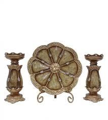 charger plates decorative: dlusso designs seville collection charger plate amp candlestick holder set