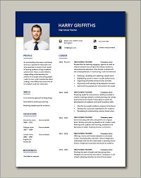This format of teacher resume is ideal for professionals who have an impressive set of accomplishments, work experience, as well as job duties from previous positions. High School Teacher Resume Template Example Sample Teaching College Pupils Learning Jobs Cv
