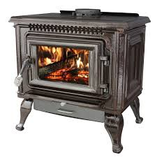epa certified mahogany enameled porcelain cast iron wood stove with blower