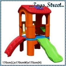 harga toys street kindergarten children playground indoor outdoor deluxe centre slide house in malaysia