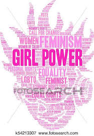 Clip Art Of Girl Power Word Cloud K54213307 Search Clipart