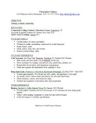 Chef Resumes Examples Best Of Culinary Resume Examples] 24 Images Resume Example Professional