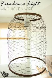 farmhouse lighting ideas. Farmhouse Light With Chicken Wire By The Wood Grain Cottage Lighting Ideas A