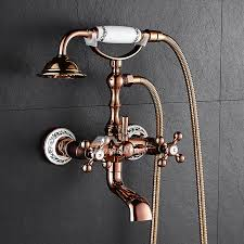 clawfoot outdoor shower faucet wall