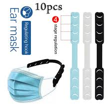 10pcs <b>Adjustable Anti slip Mask Ear</b> Grips High Quality Extension ...