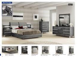 Elite Modern Italian Gray Birch Lacquer Finish Bedroom ESF