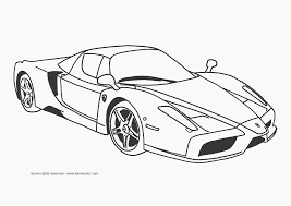 Super Car Ferrari Enzo Coloring Page