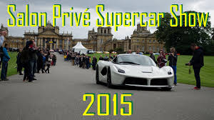 Salon Prive Supercar Show Blenheim Palace Youtube