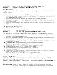 Hotel General Manager Resume Fascinating Front Office Manager Resume Pdf Desk Hotel General Sample Sheikh