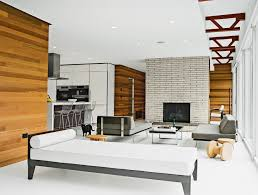 Mid Century Modern Living Room With Fireplace Images ...