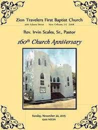 Zion Travelersfirst Baptist Church 160th Anniversary By Our In