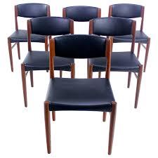 set of six danish modern teak dining chairs by glostrup mobelfabrik