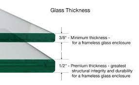 frameless shower glass thickness