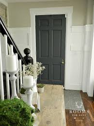 painted front door color graphite by annie sloan wall color hazy skies by