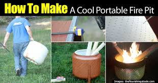 how to make a cool portable fire pit on the diy tutorial
