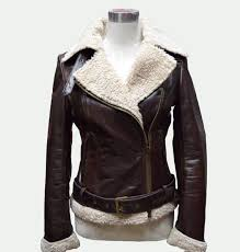 arrow brown leather jacket womens leather jacket shearling jacket 86876a