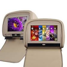 headrest dvd monitor tan online tan 9 inch digital touch screen car headrest dvd player monitor u speaker sony